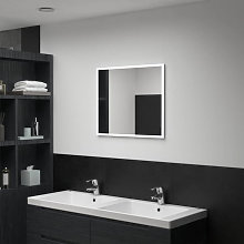 Espejo de pared de baño con LED 60x50cm Vida XL