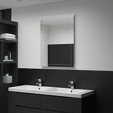 Espejo de pared de baño con LED 60x80cm Vida XL