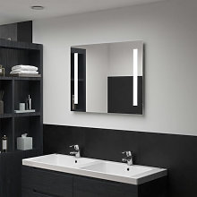 Espejo de pared de baño con LED 80x60cm Vida XL