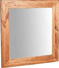 Espejo de pared de colgar cuadrado de madera
