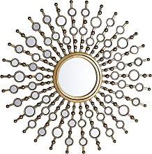 Espejo de pared dorado ø70 cm BLOIS