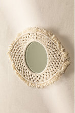 Espejo de Pared en Macramé Brice Blanco Roto Sklum