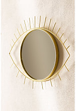 Espejo de Pared en Metal Yuls Dorado Sklum