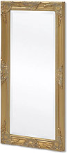 Espejo de pared estilo barroco 100x50cm dorado