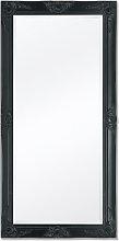 Espejo de pared estilo barroco 120x60cm negro Vida