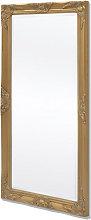 Espejo de pared estilo barroco dorado 120x60cm