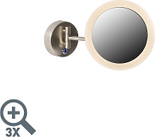 Espejo de pared moderno cromado LED IP44 - BARBA