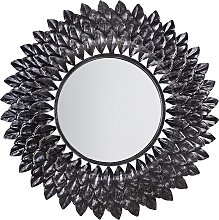 Espejo de pared plateado ø70 cm LARRAU
