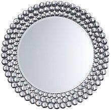 Espejo de pared plateado ø70 cm STENAY