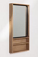 Espejo de Pared Rectangular con Estantes en MDF