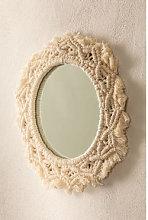 Espejo de Pared Redondo en Macramé (Ø29 cm)