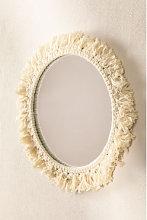 Espejo de Pared Redondo en Macramé (Ø40 cm)