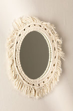 Espejo de Pared Redondo en Macramé (Ø46 cm)