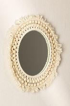 Espejo de Pared Redondo en Macramé (Ø50 cm) Jarn