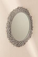 Espejo de Pared Redondo en Macramé (Ø70 cm) Gael