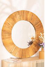 Espejo de Pared Redondo en Madera Reciclada (Ø100