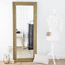 Espejo de paulonia dorado 59x145