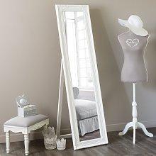 Espejo de pie blanco 164x44