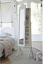 Espejo de pie con almacenaje blanco 42x160
