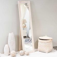Espejo de pie de madera de paulonia 160x40