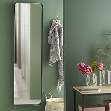 Espejo de pie de metal negro 41x151