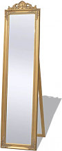Espejo de pie estilo barroco 160 x 40cm dorado
