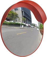Espejo de Tráfico Convexo Plástico Naranja 60 cm