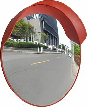 Espejo de trafico convexo plastico naranja 60 cm
