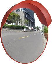 Espejo de tráfico convexo plástico naranja 60cm