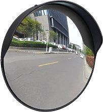 Espejo de trafico convexo plastico negro 30 cm