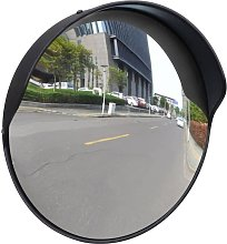 Espejo de tráfico convexo plástico negro 30 cm