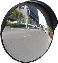 Espejo de tráfico convexo plástico negro 30cm