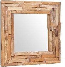 Espejo decorativo de teca 60x60 cm cuadrado -