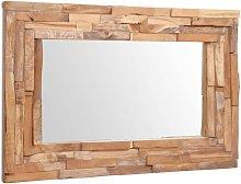 Espejo decorativo de teca 90x60 cm rectangular -
