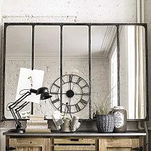 Espejo industrial de metal 180x124