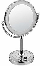 espejo maquillaje con luz, espejo de pie, Aumento