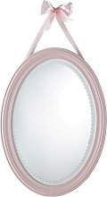 Espejo oval rosa 40x55