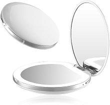 Espejo para maquillaje Chargeable bolsillo 1X / 3X