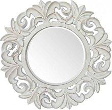 Espejo Pared Redondo Blanco