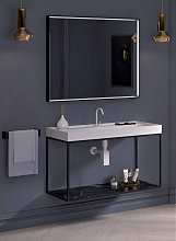Espejo rectangular con marco con luz 100cm con luz