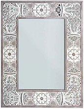 Espejo rectangular con marco decorativo AQABA,