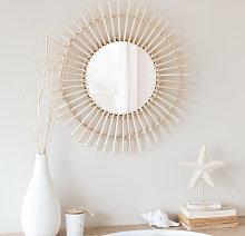 Espejo redondo de bambú D.55