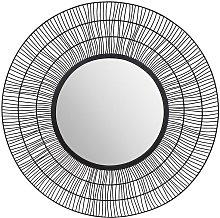 Espejo redondo de estilo étnico THEODORE - Hierro