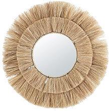 Espejo redondo de fibra vegetal D.100