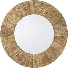 Espejo redondo de madera reciclada D.120