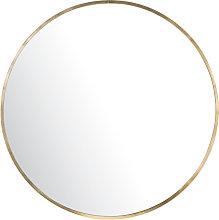 Espejo redondo de metal dorado D101