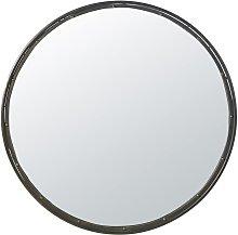Espejo redondo de metal negro D.120