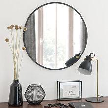 Espejo redondo de metal negro D.60