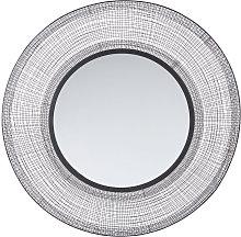 Espejo redondo de metal trenzado D.100