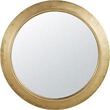 Espejo redondo dorado D.150